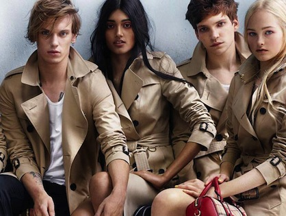 Burberry first indian model