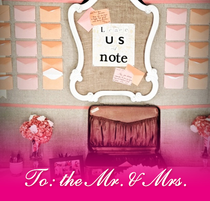 wedding day love notes for the couple mr and mrs
