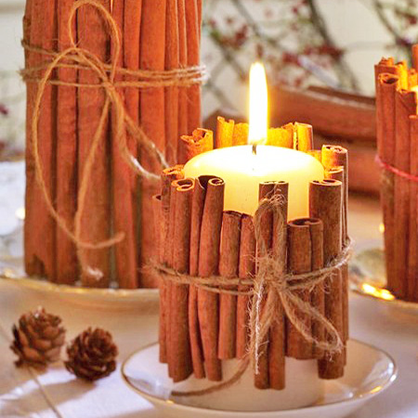 DIY Cinnamon Stick Candles