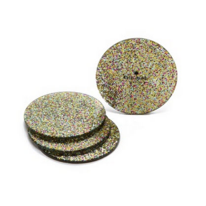 Home Accents for the Glamour Girl: Glitter Coasters
