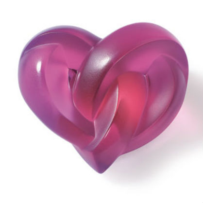For the Home: Radiant Orchid Heart Paperweight