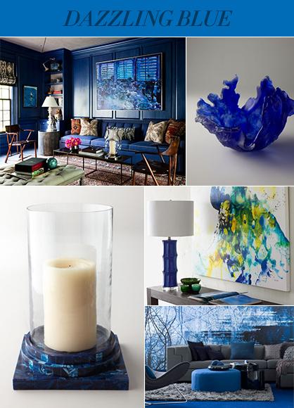 2014 Interior Color Trends: Dazzling Blue