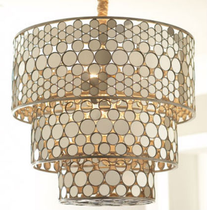 Home Accents for the Glamour Girl: Mirrored Chandelier