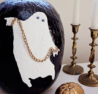 Ghost Painted Pumpkin