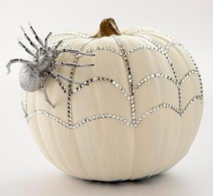 Rhinestone Spider Web Pumpkin