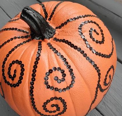 Sequin Pumpkins