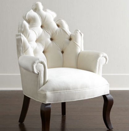 Home Accents for the Glamour Girl: Tufted Chair