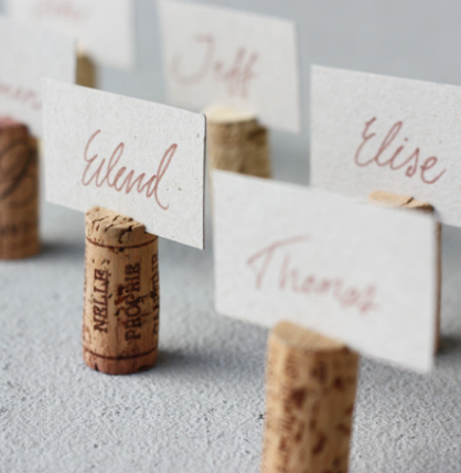 Wedding DIY Ideas: Wine Cork Name Tags