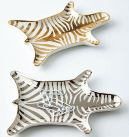 Home Accents for the Glamour Girl: Zebra Trays