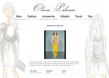 Olivia Palermo releases new fashion-focused blog