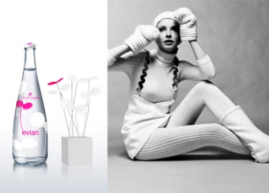 Evian collaborates with Courrèges for 50-year anniversary bottle