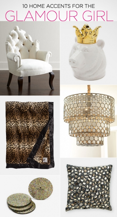 10 Home Accents for the Glamour Girl