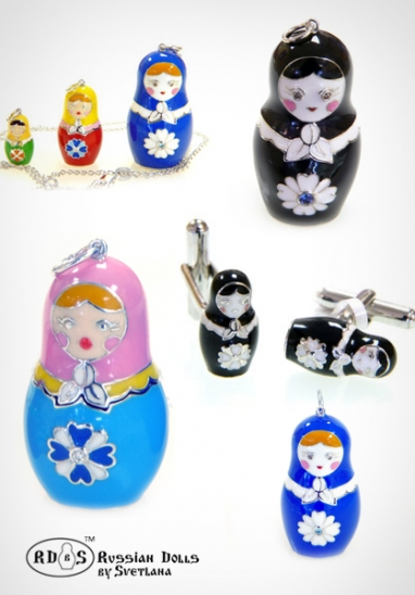 Russian Dolls by Svetlana are charming statement pieces