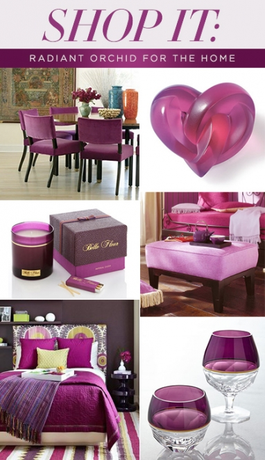 Shop It: Radiant Orchid for the Home