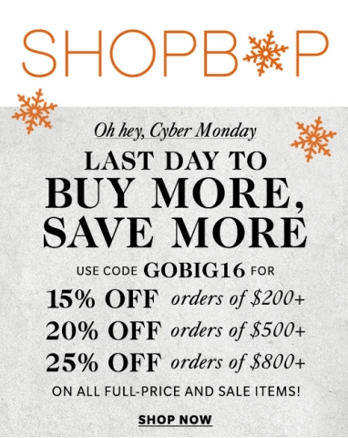 Shopbop GOBIG16 Sale